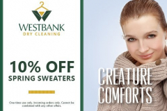 Westbank Dry Cleaining Coupons