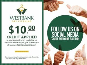Follow us on Social Media Coupon