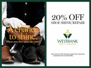 Westbank 20% off Shoe Shine Coupon