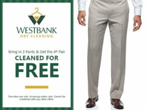 Westbank Dry Cleaning Pants Coupon